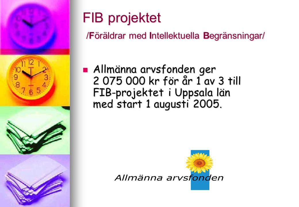 FIB projektet /Föräldrar med Intellektuella Begränsningar/