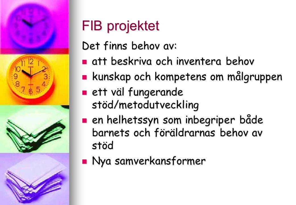 FIB projektet Gruppverksamhet för barn respektive föräldrar i Tierp