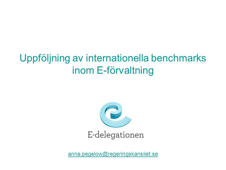 Uppföljning av internationella benchmarks inom E-förvaltning