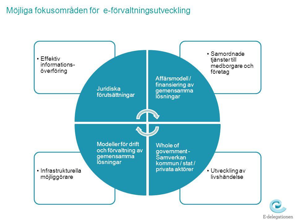Möjliga fokusområden för e-förvaltningsutveckling