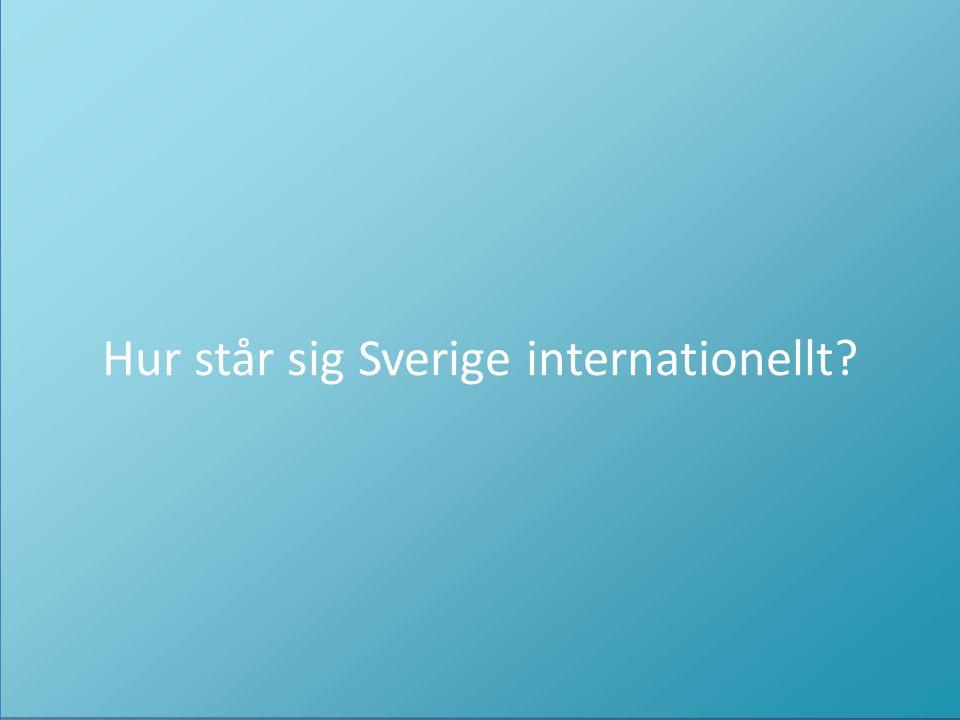Hur står sig Sverige internationellt