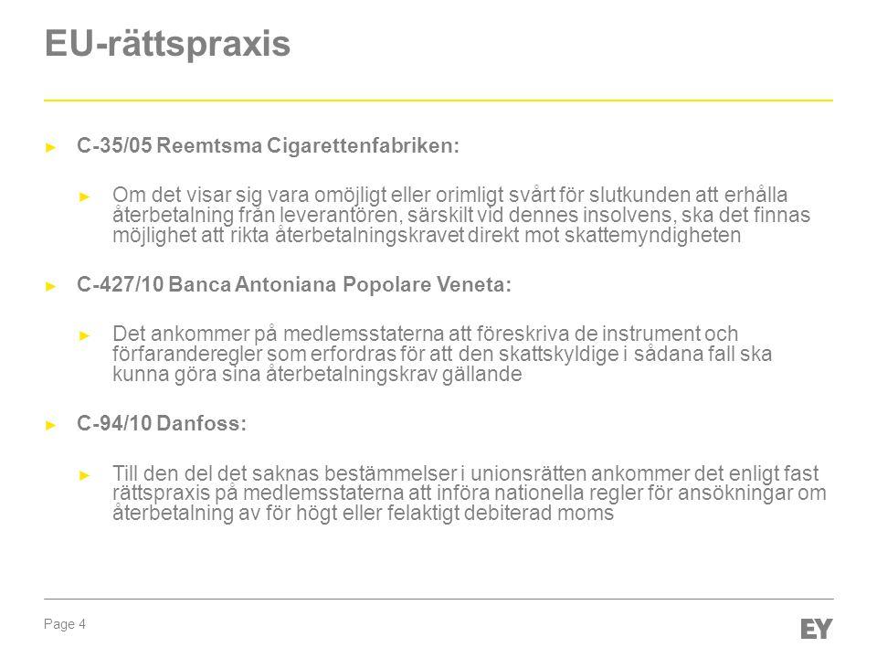 EU-rättspraxis C-35/05 Reemtsma Cigarettenfabriken:
