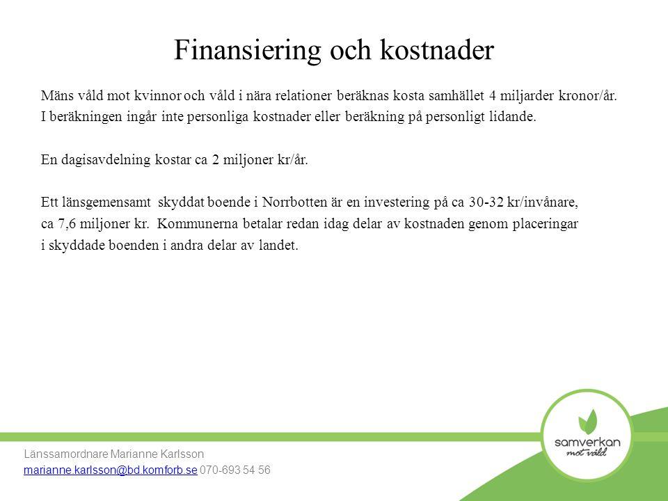 Finansiering och kostnader