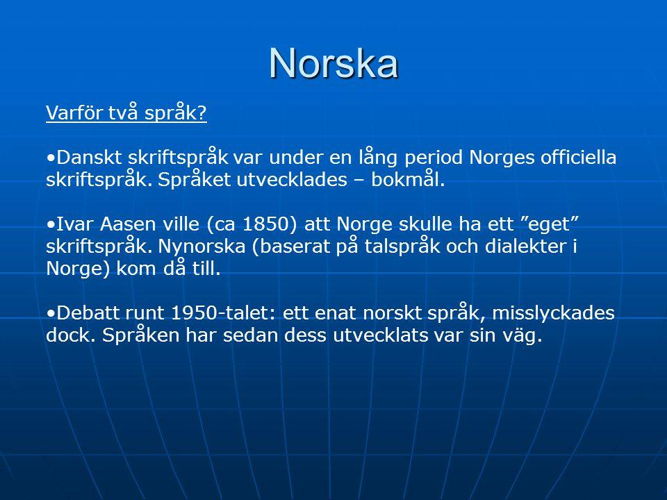Norska Varför två språk