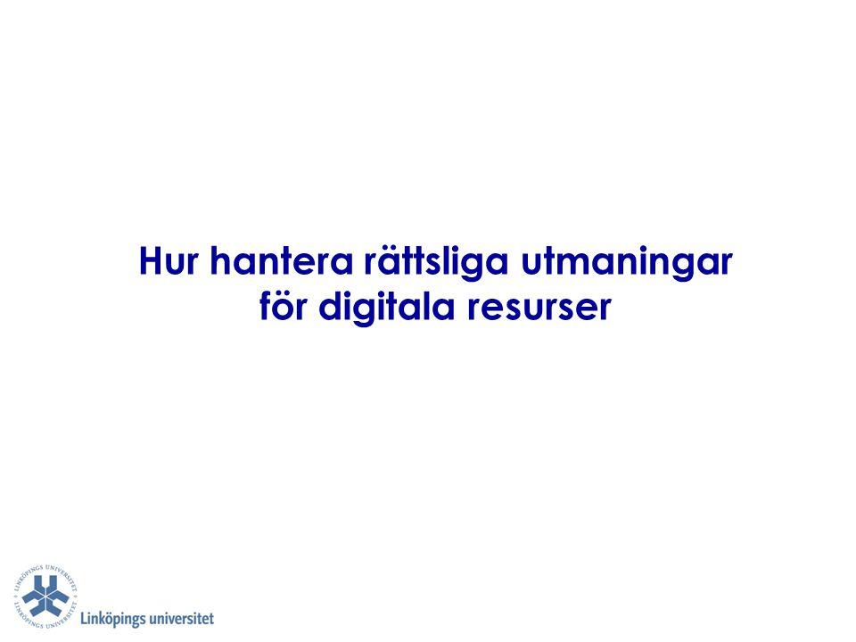 Hur hantera rättsliga utmaningar för digitala resurser