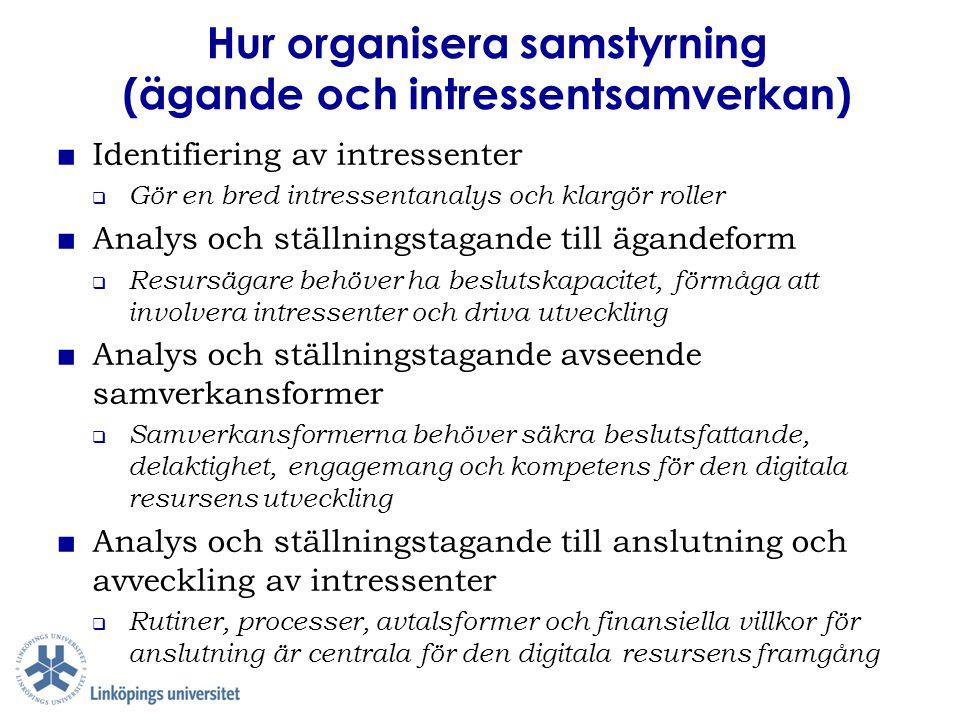 Hur organisera samstyrning (ägande och intressentsamverkan)