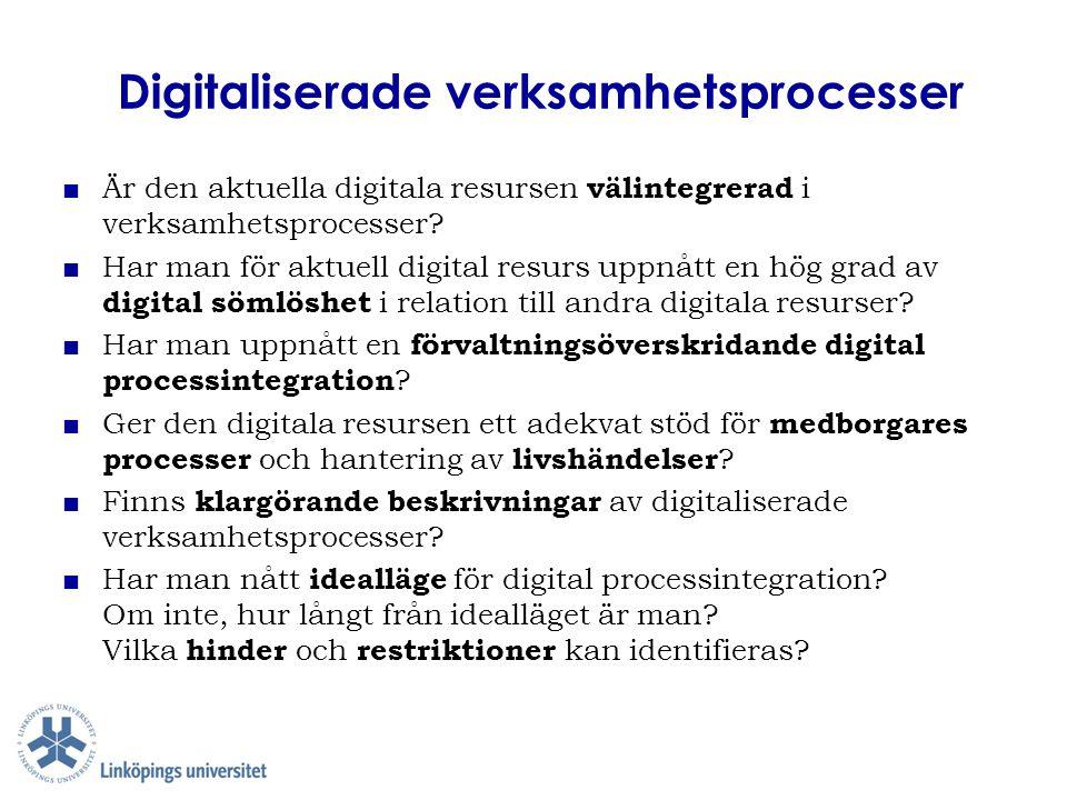 Digitaliserade verksamhetsprocesser