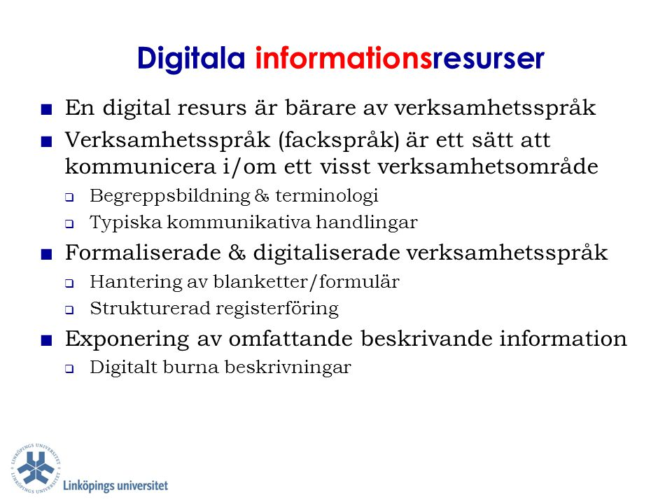 Digitala informationsresurser