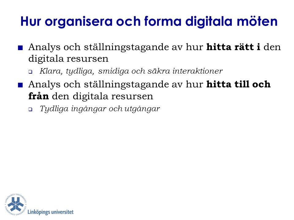 Hur organisera och forma digitala möten