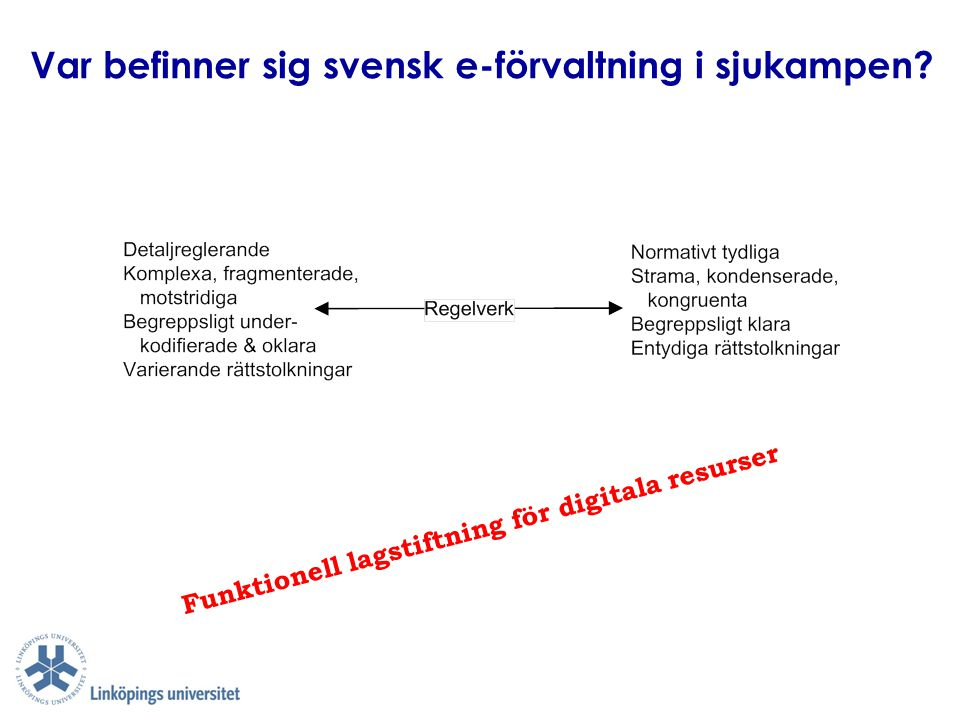 Var befinner sig svensk e-förvaltning i sjukampen
