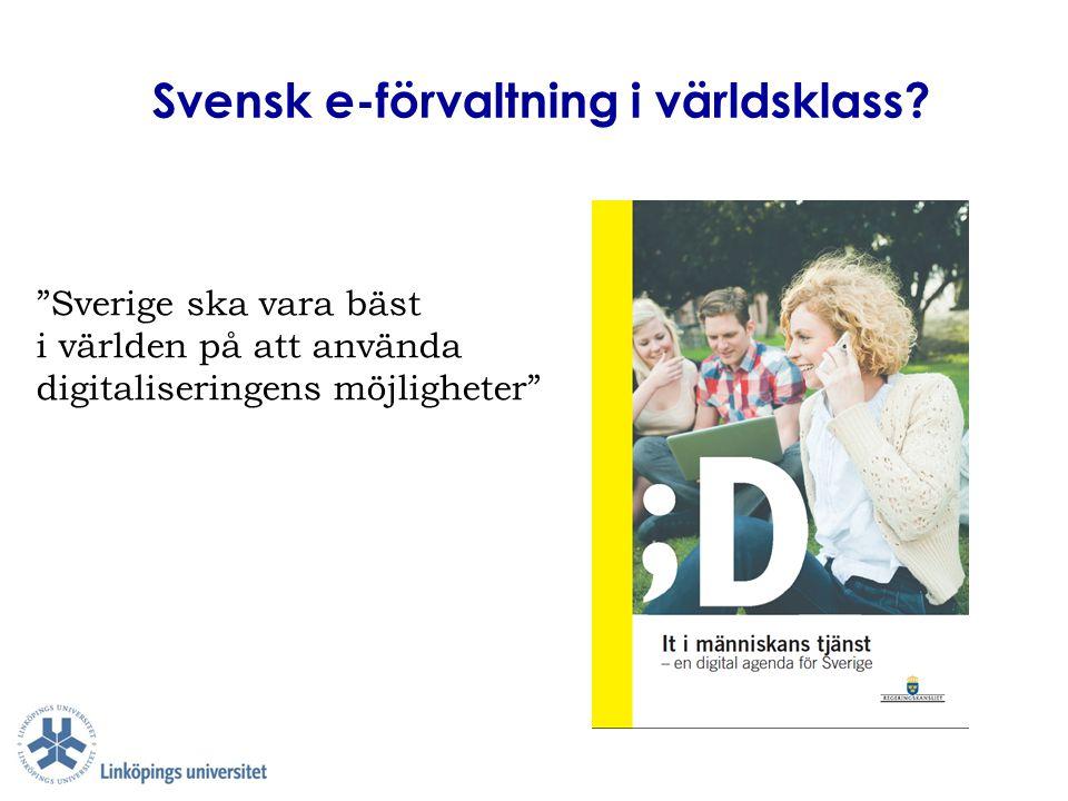 Svensk e-förvaltning i världsklass
