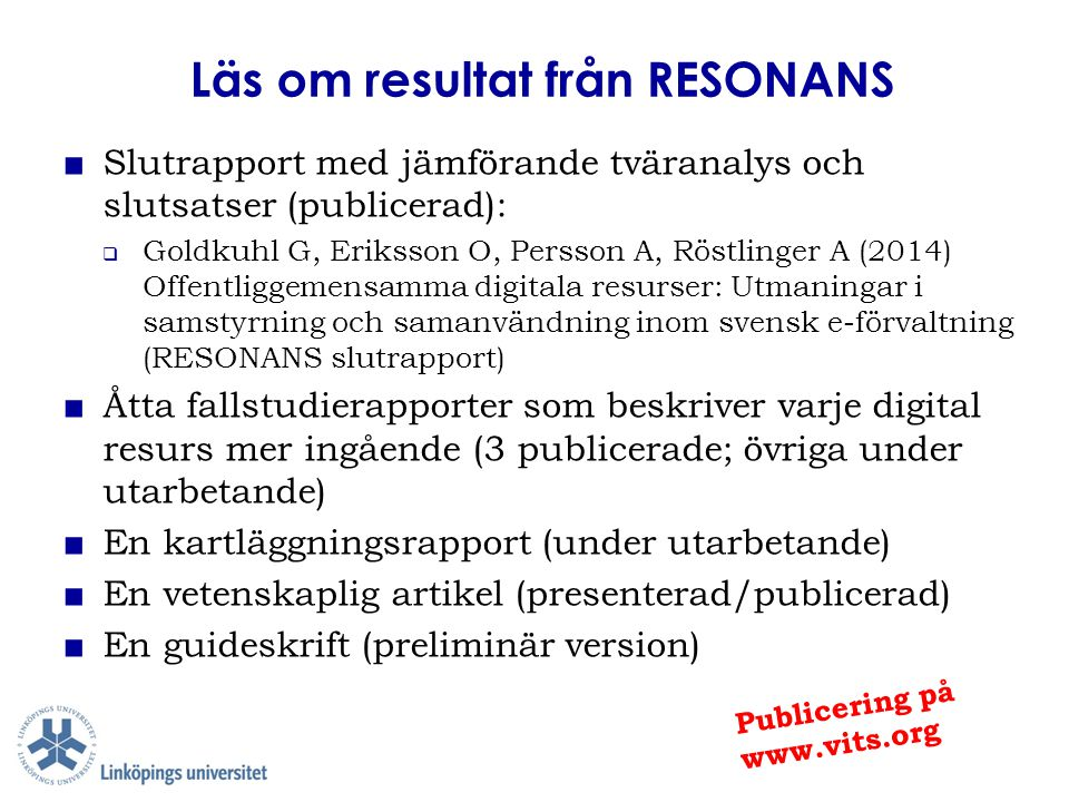Läs om resultat från RESONANS