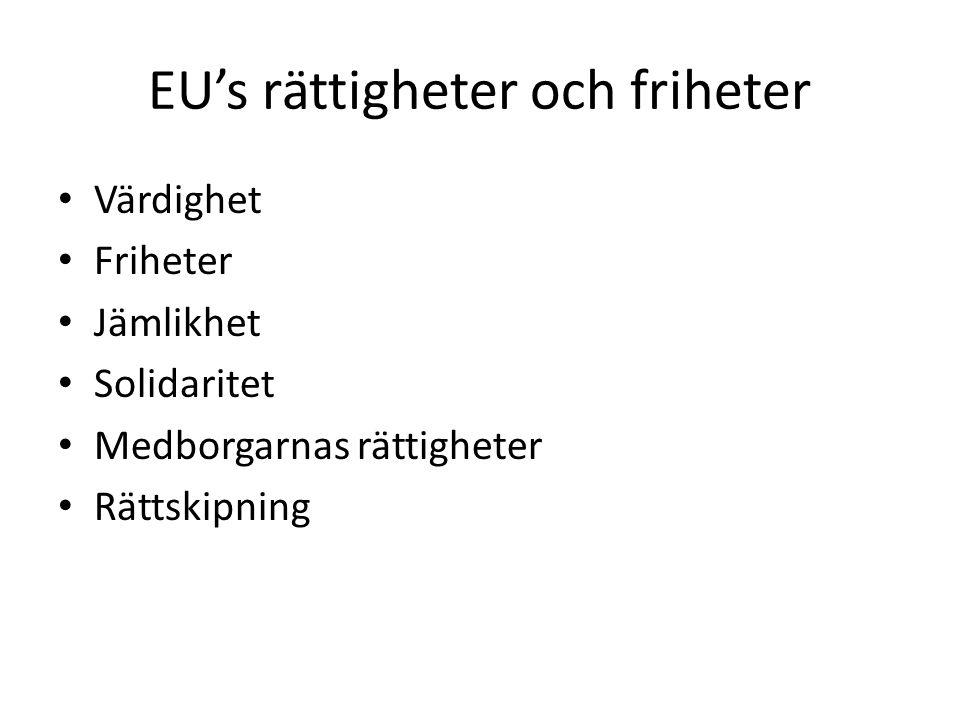 EU's rättigheter och friheter