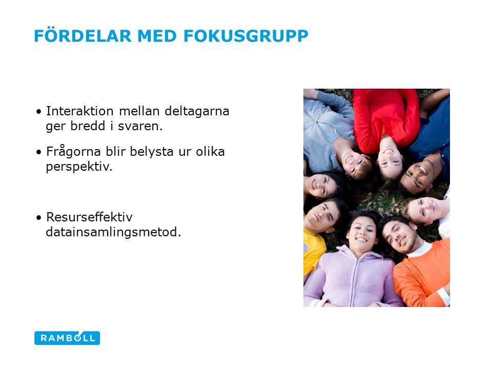 Fördelar med fokusgrupp
