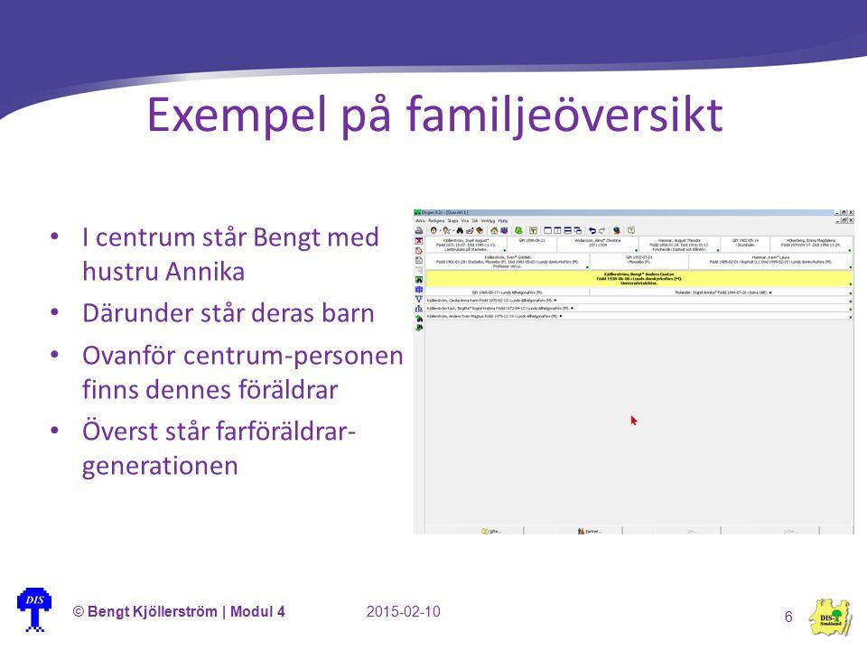 Exempel på familjeöversikt