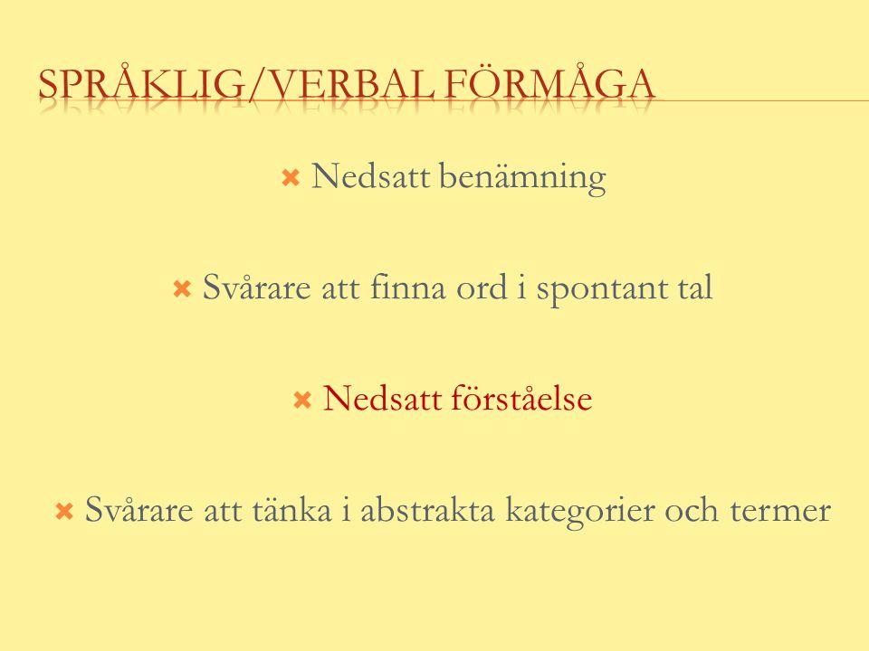 Språklig/verbal förmåga