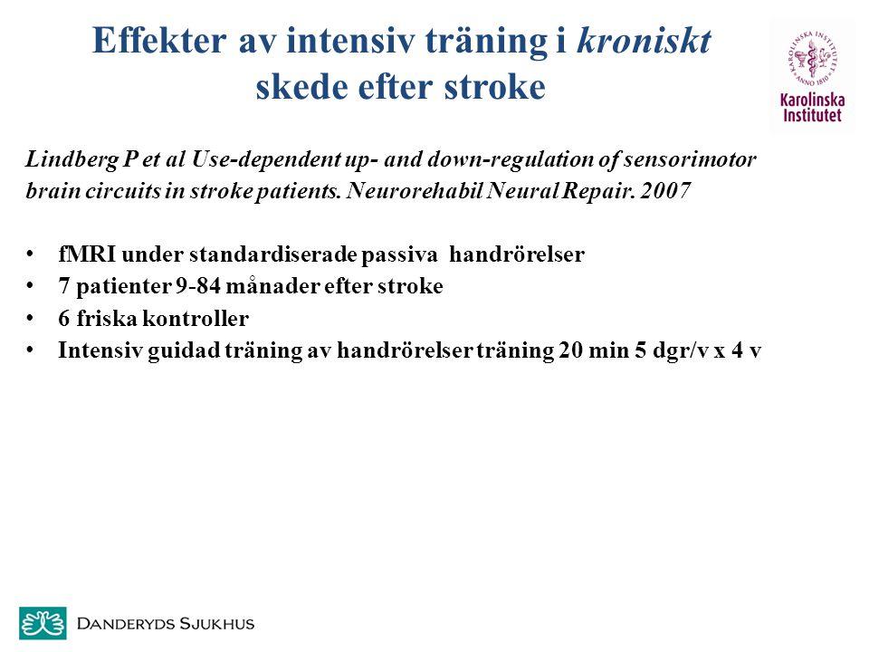 Effekter av intensiv träning i kroniskt skede efter stroke