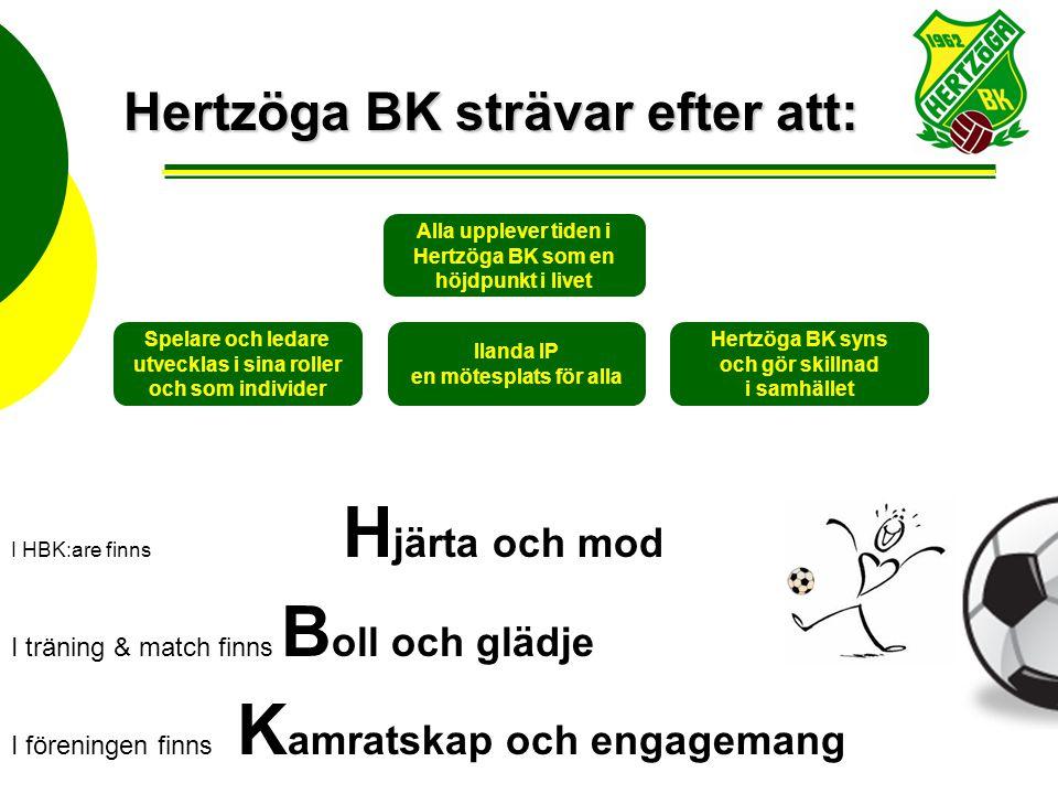 Hertzöga BK strävar efter att:
