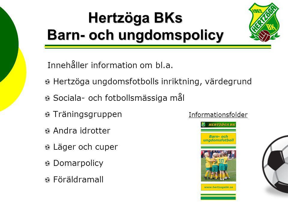 Hertzöga BKs Barn- och ungdomspolicy
