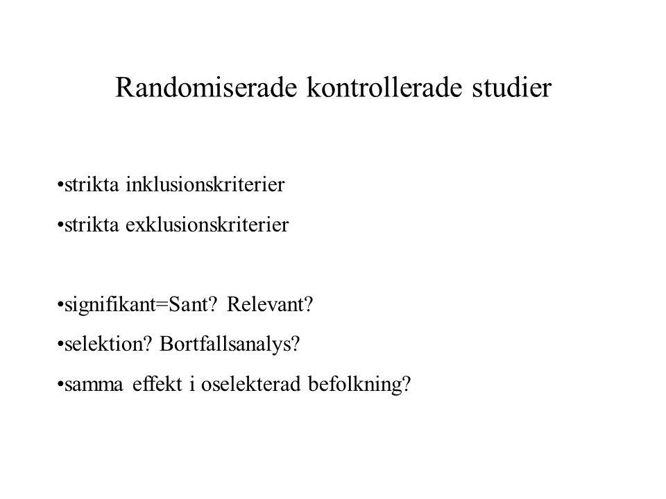 Randomiserade kontrollerade studier
