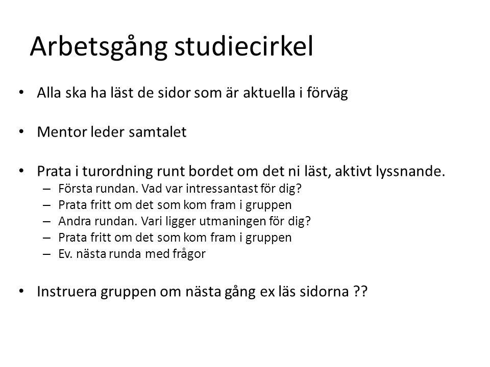 Arbetsgång studiecirkel