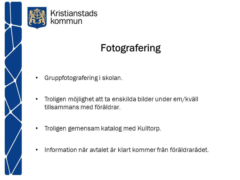Fotografering Gruppfotografering i skolan.