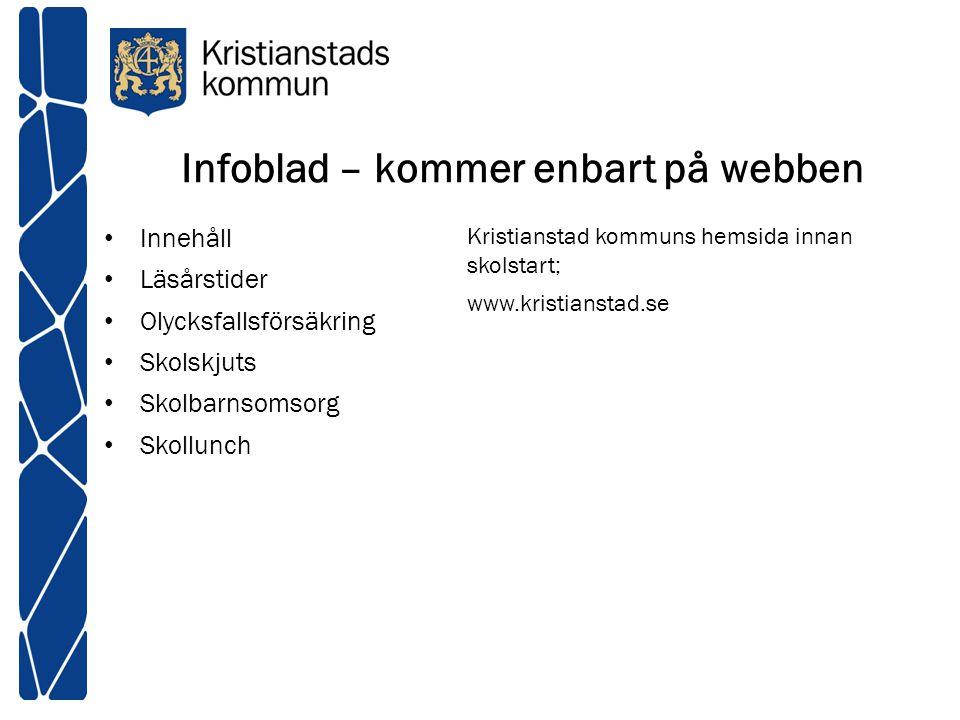 Infoblad – kommer enbart på webben