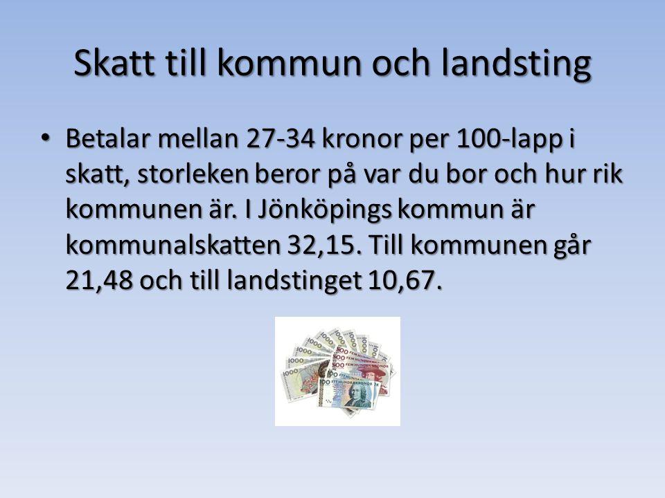 Skatt till kommun och landsting