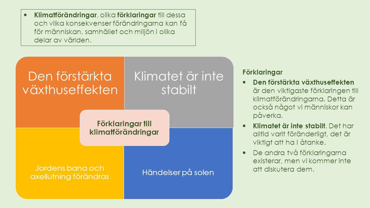 Förklaringar till klimatförändringar
