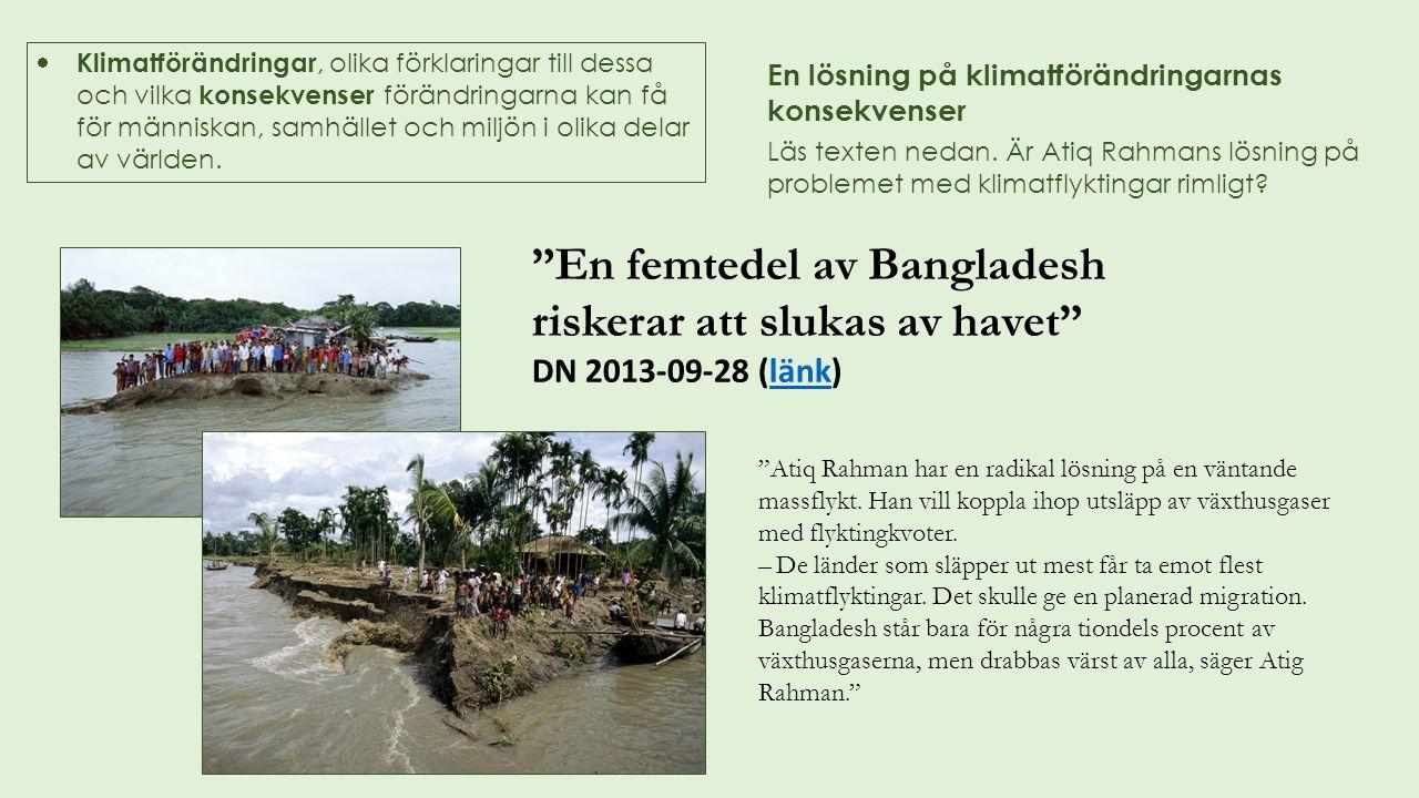 En femtedel av Bangladesh riskerar att slukas av havet