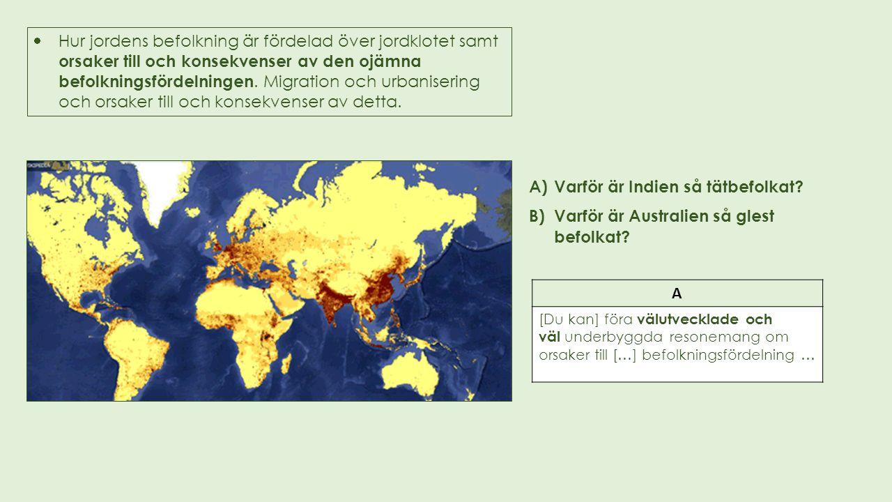 Varför är Indien så tätbefolkat