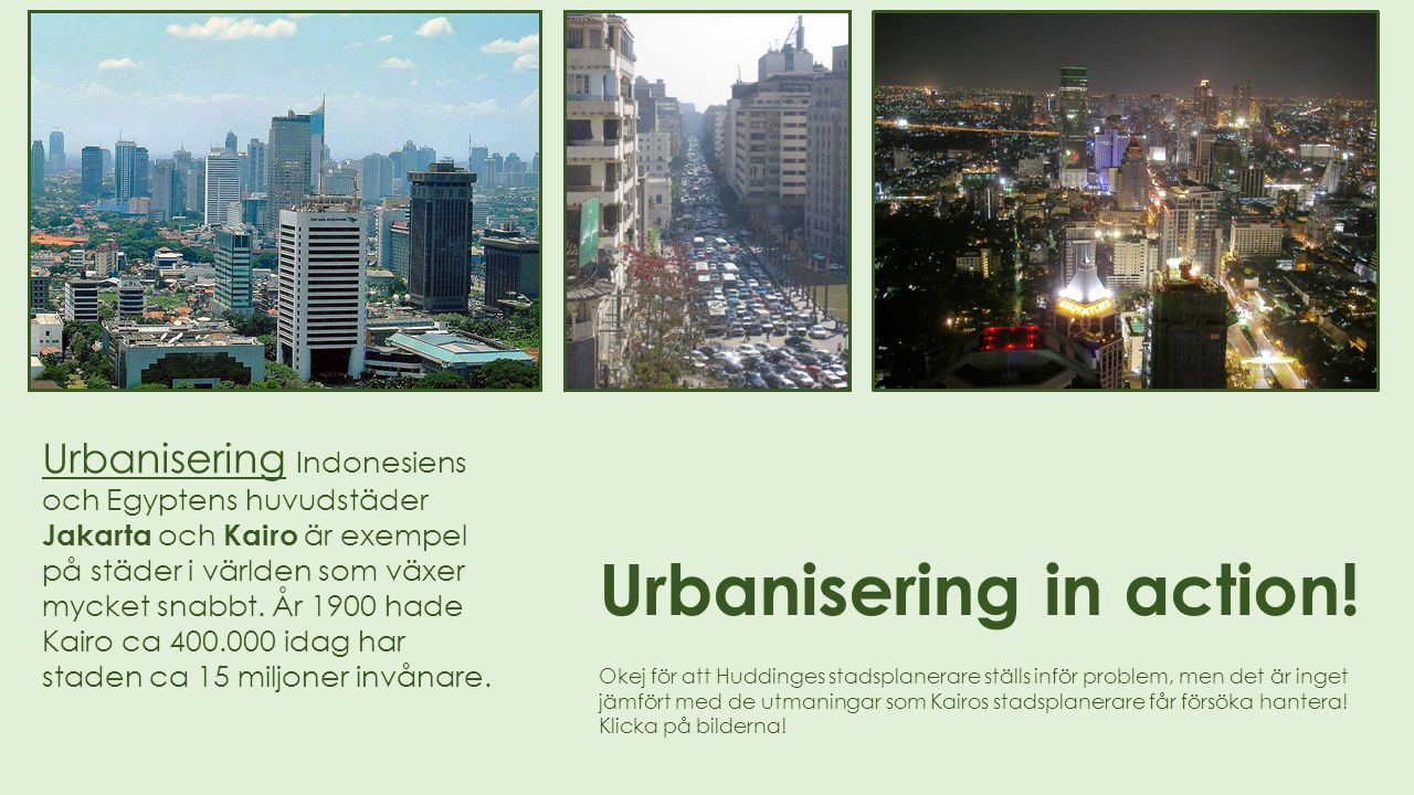 Urbanisering in action!