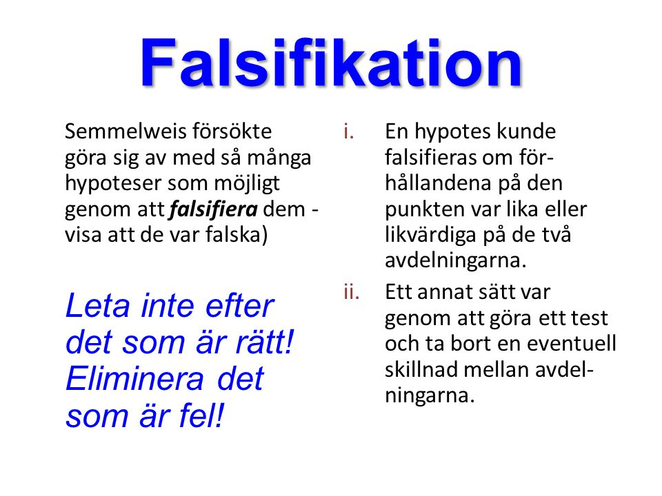 Falsifikation