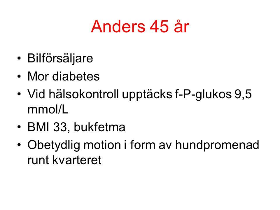Anders 45 år Bilförsäljare Mor diabetes