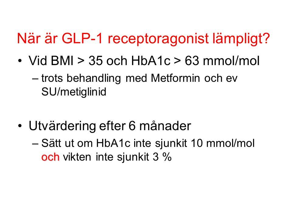 När är GLP-1 receptoragonist lämpligt