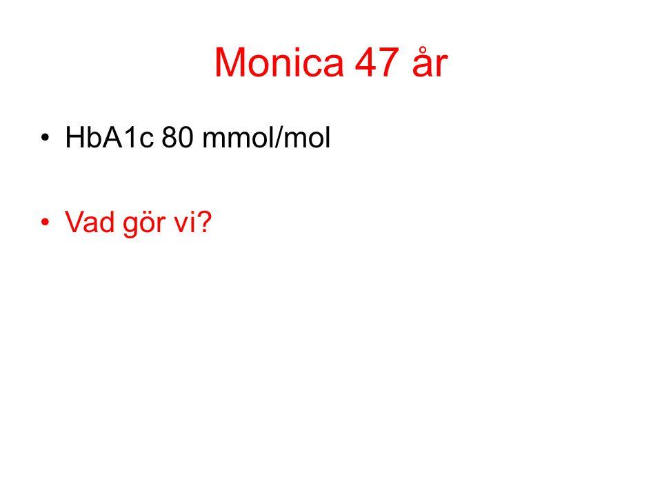 Monica 47 år HbA1c 80 mmol/mol Vad gör vi