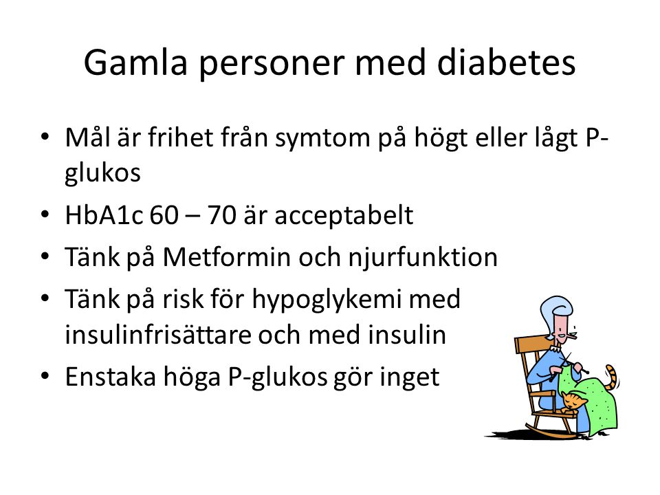 Gamla personer med diabetes