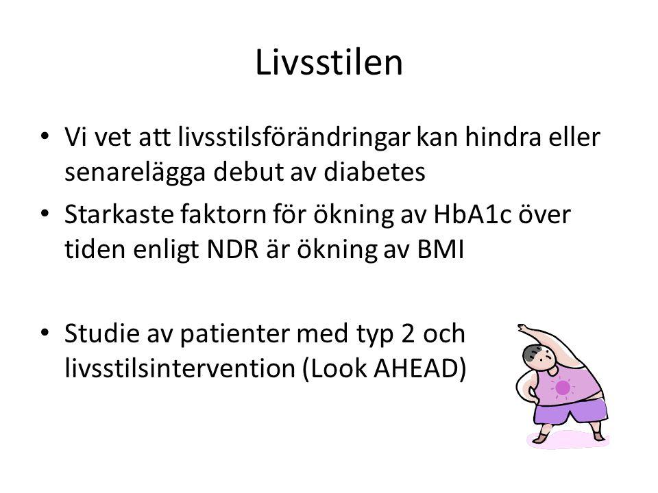 Livsstilen Vi vet att livsstilsförändringar kan hindra eller senarelägga debut av diabetes.
