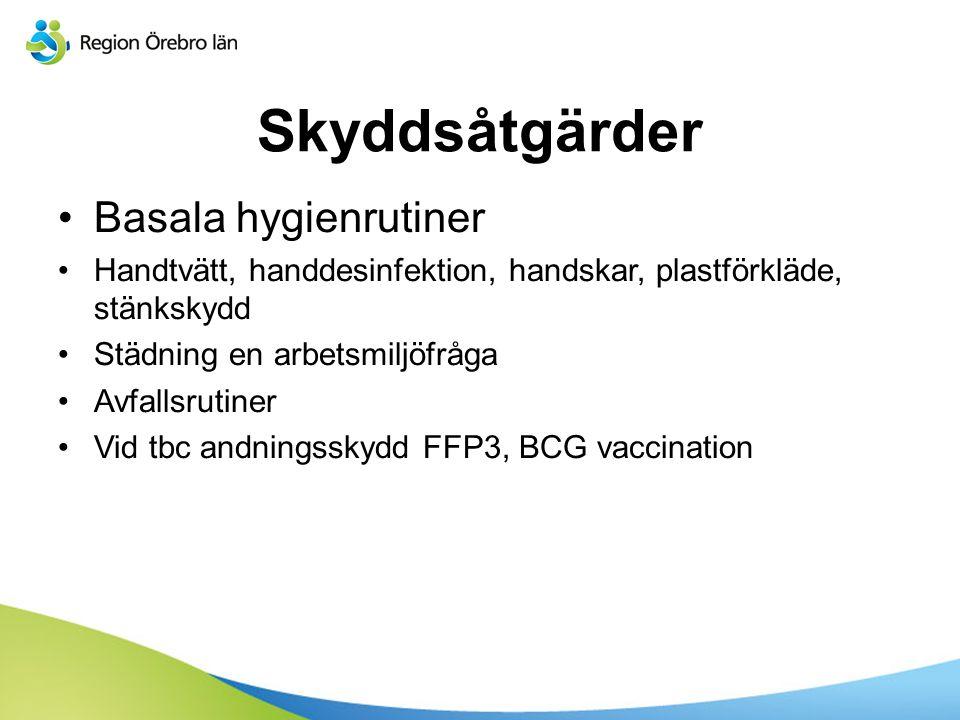 Skyddsåtgärder Basala hygienrutiner