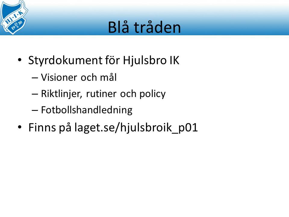 Blå tråden Styrdokument för Hjulsbro IK