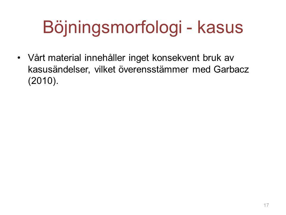 Böjningsmorfologi - kasus