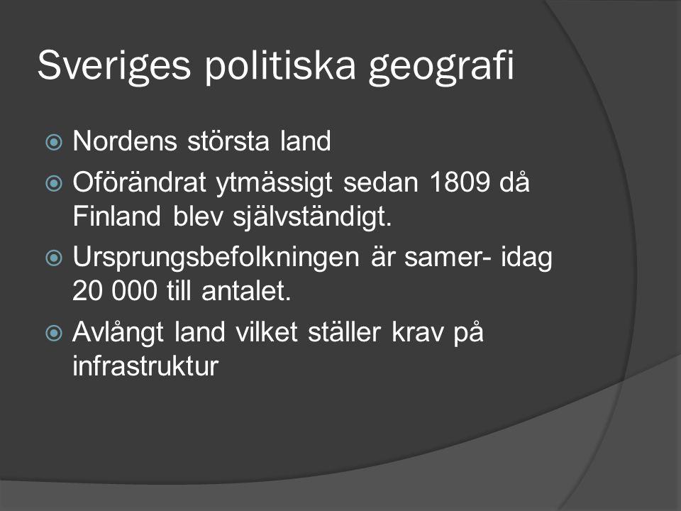 Sveriges politiska geografi