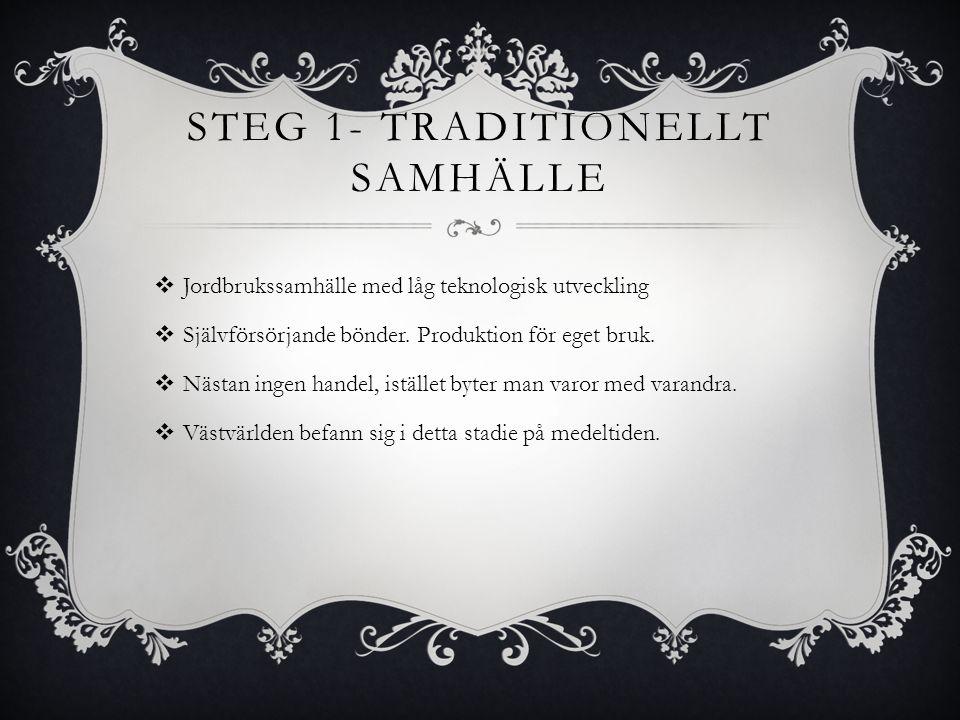 Steg 1- Traditionellt samhälle