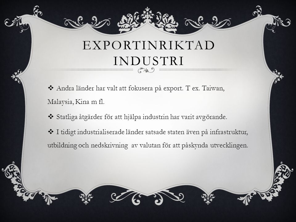 Exportinriktad industri