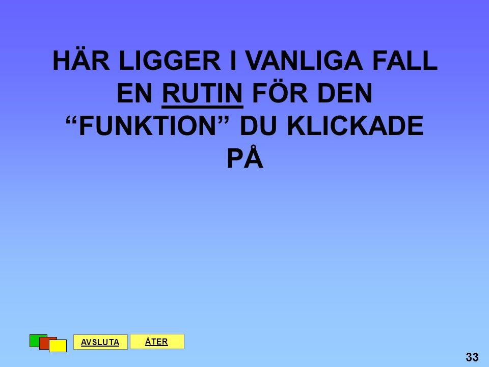 HÄR LIGGER I VANLIGA FALL EN RUTIN FÖR DEN FUNKTION DU KLICKADE PÅ