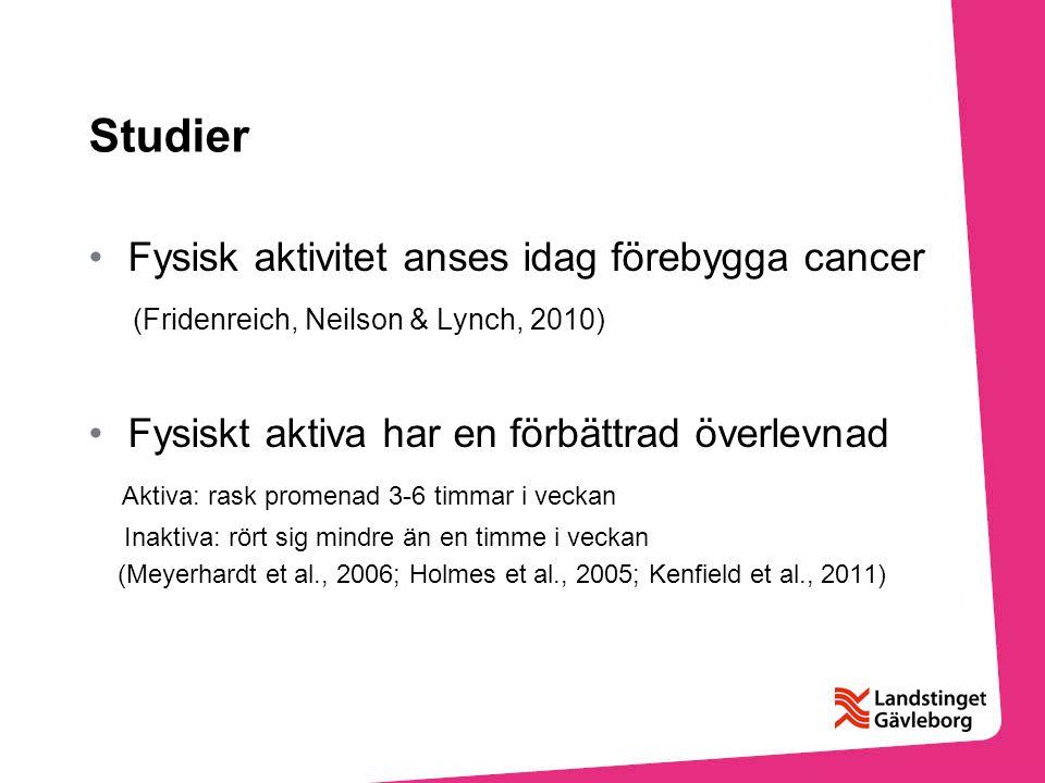 Studier Fysisk aktivitet anses idag förebygga cancer