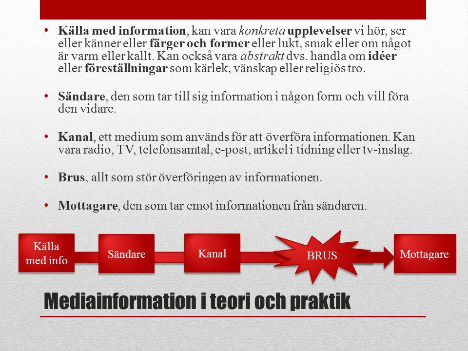 Mediainformation i teori och praktik