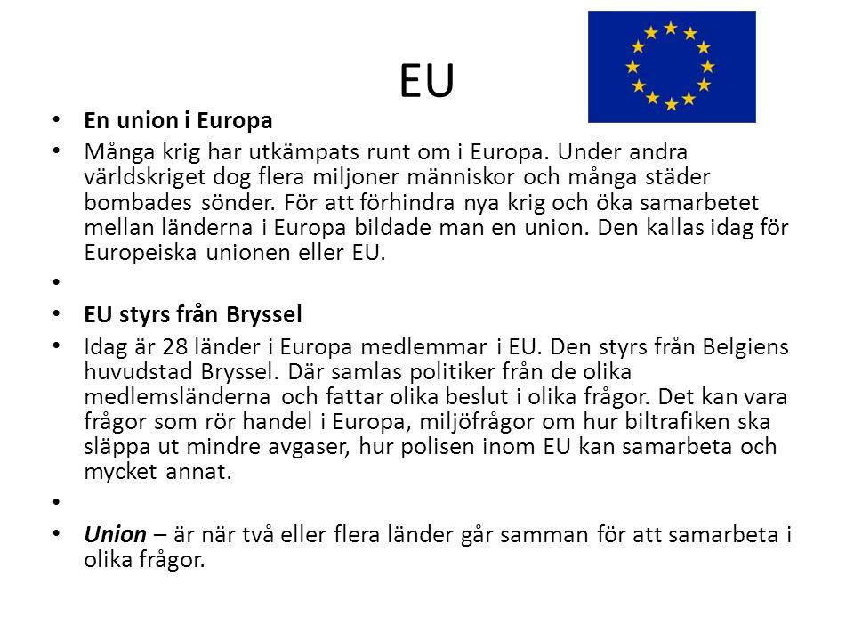EU En union i Europa.