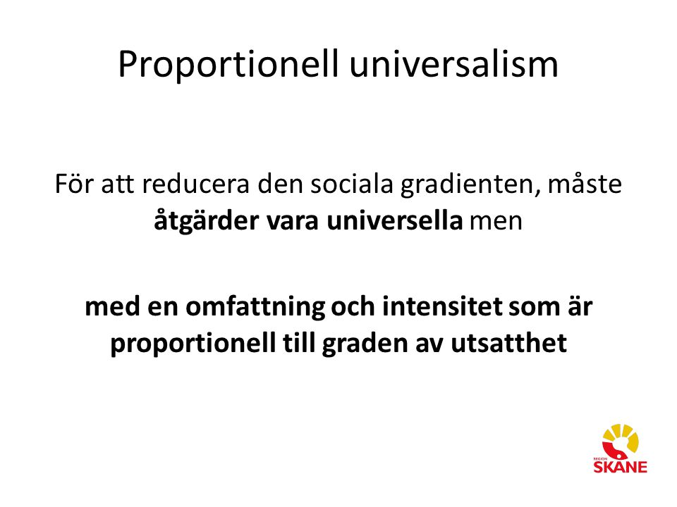 Proportionell universalism