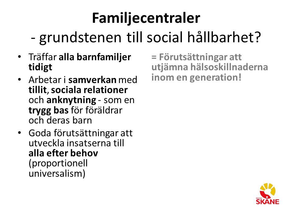 Familjecentraler - grundstenen till social hållbarhet